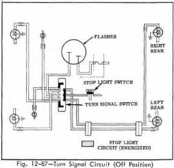 turn signal circuit diagram of 1966 oldsmobile 33 through 86 series position circuit