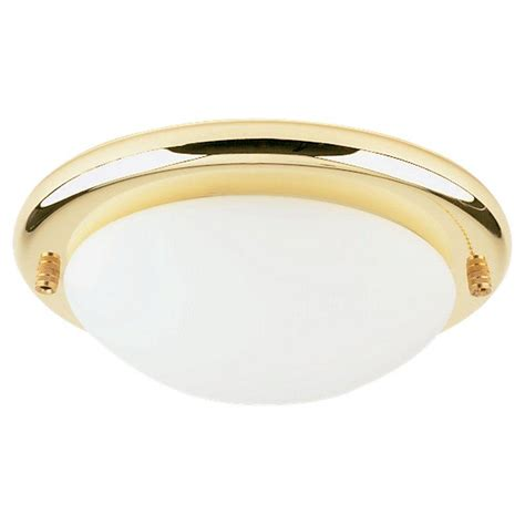 polished brass ceiling lights sea gull lighting 1 light polished brass fluorescent