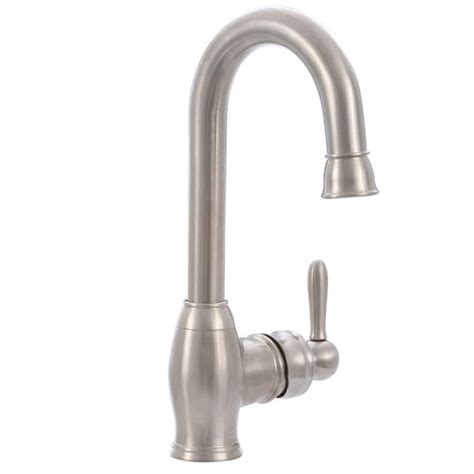 pegasus newbury single handle bar faucet in brushed nickel