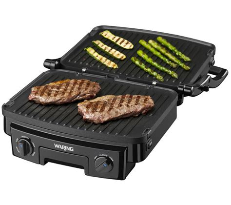 Multi Grill buy waring wgr200u 4 in 1 multi grill gloss black stainless steel free delivery currys