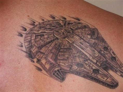 millennium falcon tattoos tattoo star wars tattoo and
