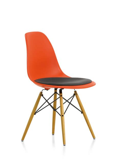 eames side chair cushion eames plastic side chair dsw chair with seat cushion vitra