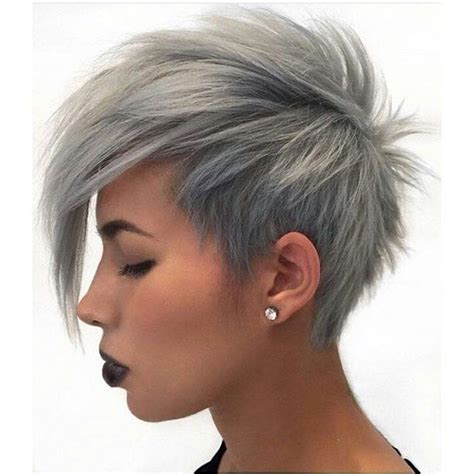 funky silver hair 18 simple easy short pixie cuts for oval faces short