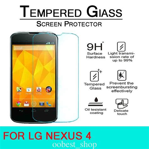 Tempered Glass Lg Nexus 4 front premium tempered glass gb for lg nexus 4
