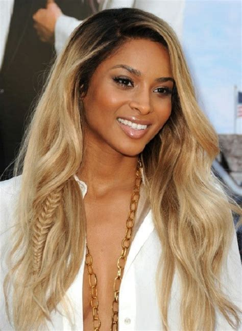 blonde hairstyles on brown skin learn more about garnier hair color at charmhairstyles com
