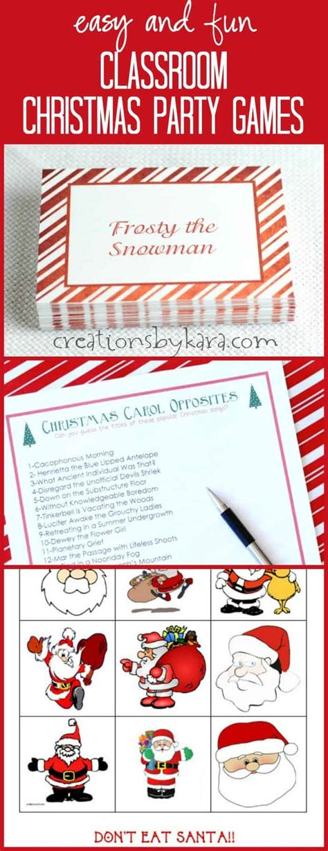 free printable christmas games for the classroom classroom christmas party games