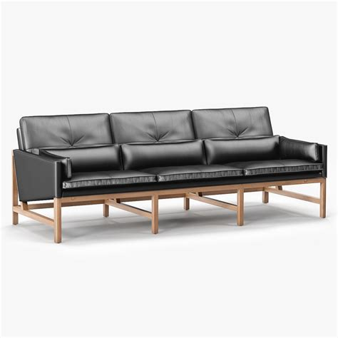 low back settee 3d model cb 53 sofa