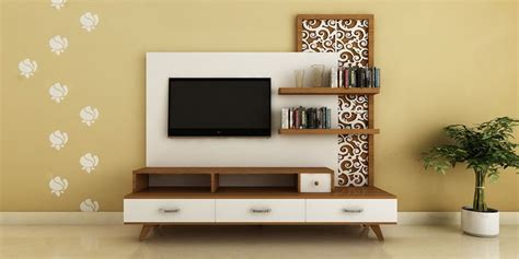 wallpaper design for tv unit modern ethnic tv unit with jaali design by intart