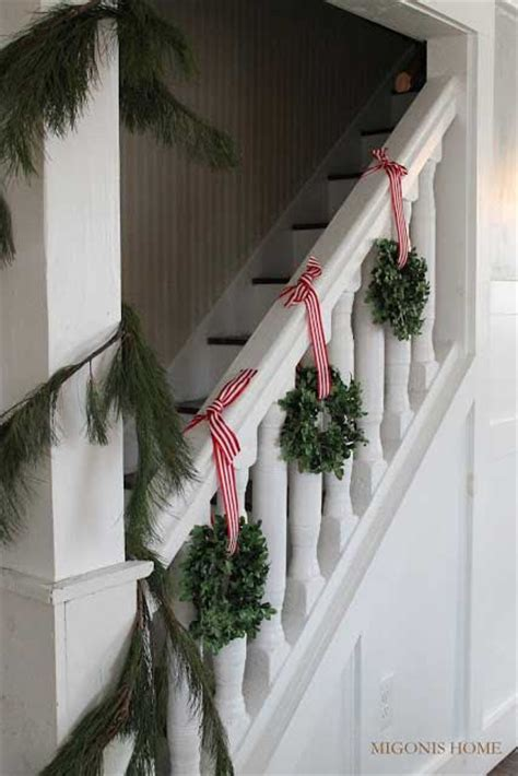 best banister garlands for christmas 35 irresistible ideas to decorate your stairs in the spirit of homedesigninspired