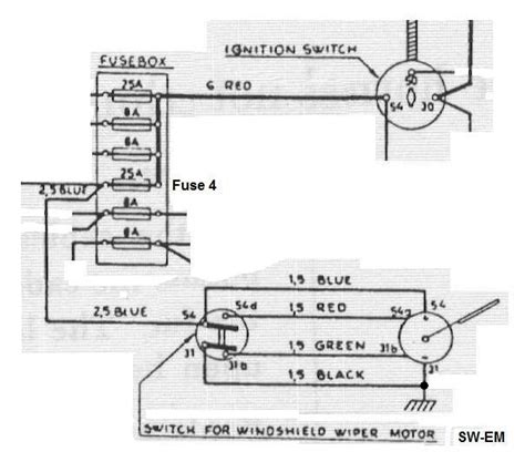 6v vw wiper motor wiring diagram wiring diagram with