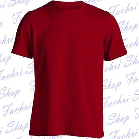 kaos jawa pendek terjual kaos polos merah tua maroon lengan pendek kaskus