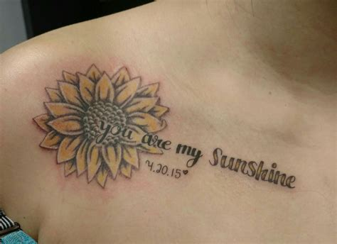 you are my sunshine tattoos you are my and sunflower fashion