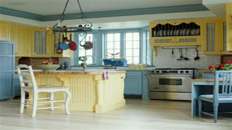yellow kitchen theme ideas storage solutions for small kitchen blue and yellow