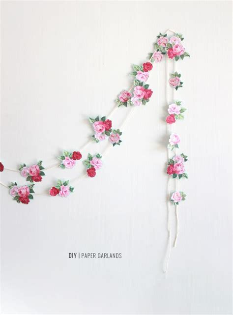 Garland With Paper Flowers - 12 diy floral garland projects for your home pretty designs
