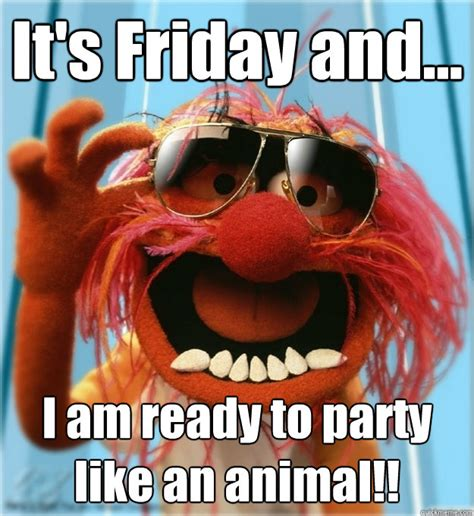 Party Animal Meme - it s friday and i am ready to party like an animal