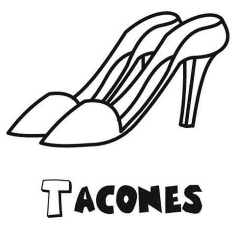 dibujos infantiles zapatillas dibujo de zapatos de tac 243 n para colorear