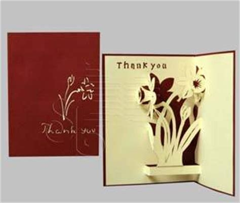 Sell Handmade Greeting Cards - sell thank you handmade 3d pop up greeting card