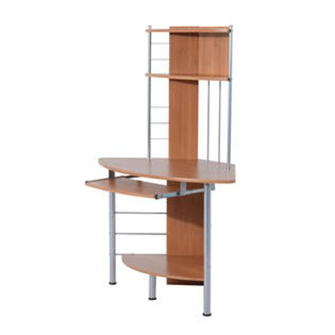 Corner Desk Tower Homcom 45 Quot Arch Tower Corner Computer Desk Beech Wood