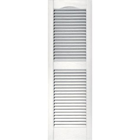 louvered exterior shutters the home depot