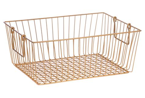 gold wire basket rectangle wire basket gold storage from one norooz