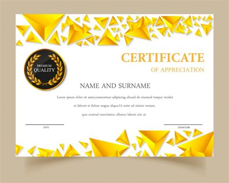 design certificate template ai certificate template gold design vector free download