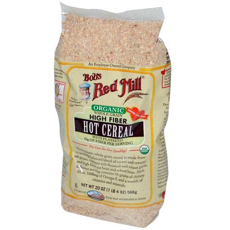 whole grains that are high in fiber bob s mill organic whole grain high fiber cereal