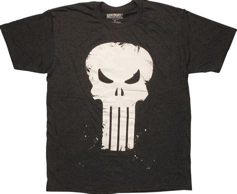 T Shirt Punisher Logo punisher scratch skull logo charcoal t shirt