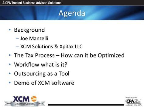 xcm workflow ecpan presentation of outsourcing xcm workflow