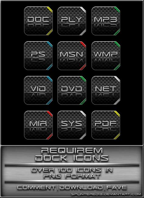 requirem dock icons  splintered  deviantart