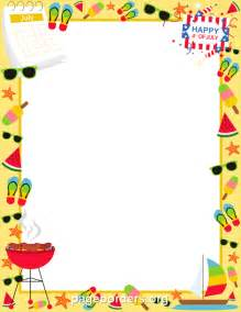 July border clip art page border and vector graphics