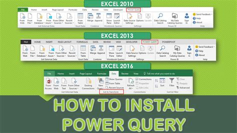 power query tutorial excel 2010 excel 2010 developer tutorial how to install excel power