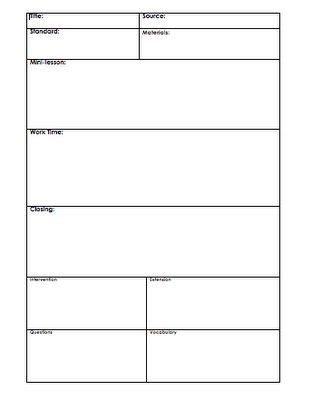 Basic Lesson Plan Template by Basic Lesson Plan Template Letter World