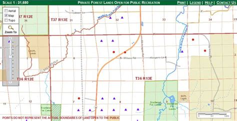 wi dnr land map lands open to web mapping application wisconsin dnr