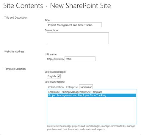 Sharepoint Project Management And Time Tracking Configuration Sharepoint Time Tracking Template