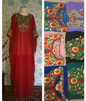 Bahan Ceruti Kaftan Dress Blouse Produk Lokal Kaftan Yasmine
