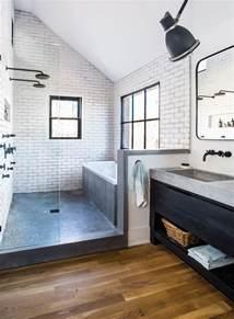 Modern Industrial Bathroom Room Envy At Serenbe A Master Bath With A Modern Farmhouse Aesthetic Atlanta Magazine
