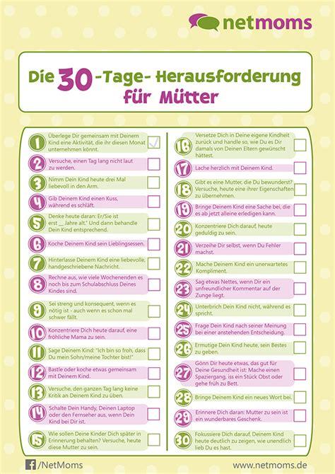Schönherr Kalender 2015 Zum Ausdrucken Die 30 Tage Herausforderung F 252 R M 252 Tter Netmoms De