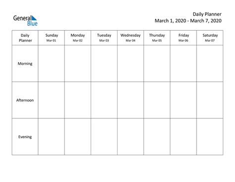 weekly calendar march    march    word excel