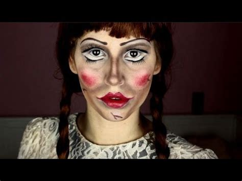 annabelle doll halloween makeup annabelle doll halloween make up tutorial youtube
