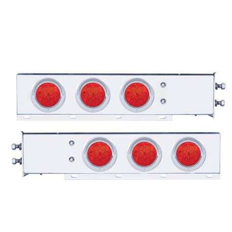 mud flap hangers with lights mud flap hangers with led lights red lens raney s