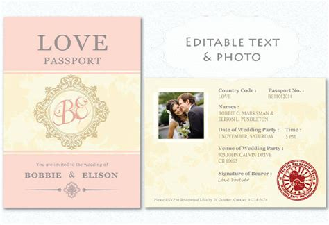 15 passport invitation templates free sle exle