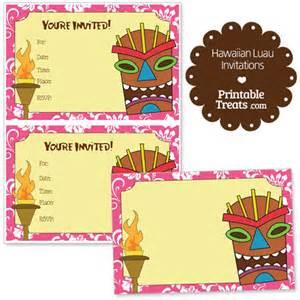 printable luau birthday invitations 2 printable pink hawaiian luau invitations printable treats