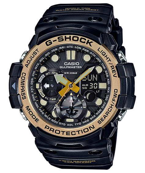 G Shock Gshock Gg 1100 Black Gold g shock vintage black gold 隹 ga 1100gb gg 1000gb 雜 gn