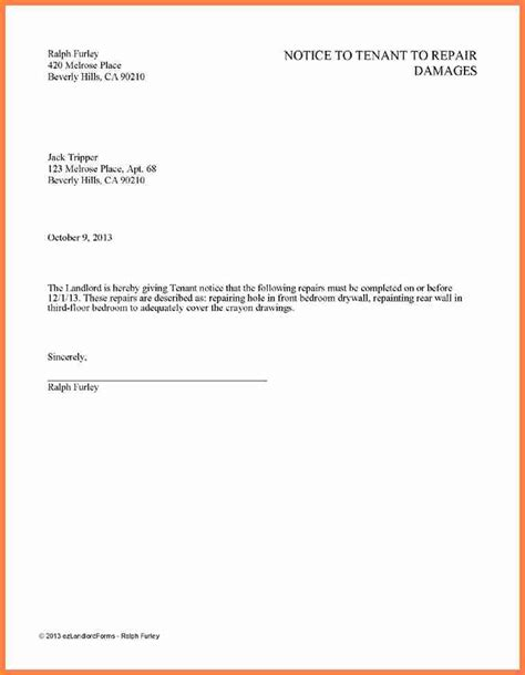 11 rental notice template notice letter