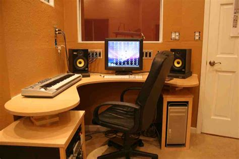 Recording Studio Desk Plans Home Furniture Design Home Studio Desk Design
