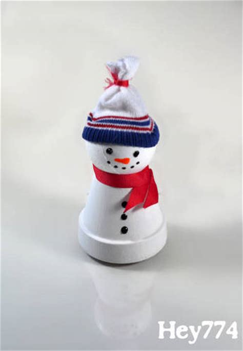 craft activities images on the occasion of christmas clay pot snowmen occasions and holidays