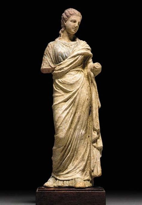 ancient greek woman statue a greek terracotta figure of a woman hellenistic period