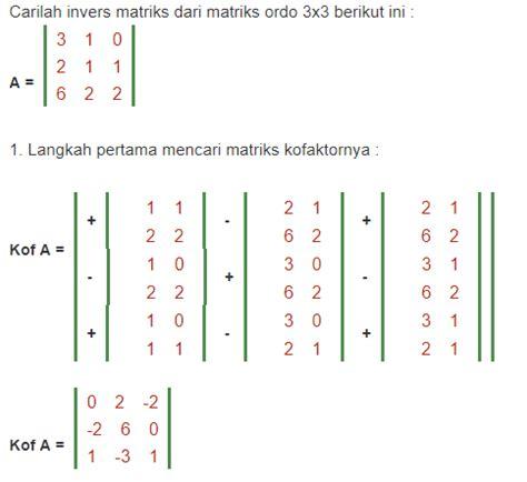 rumus invers matriks  contoh soalnya blog teknisi