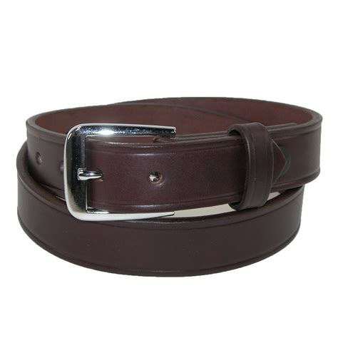 mens leather 1 1 4 inch sports officials belt by boston