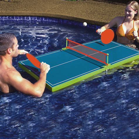 poolmaster floating table tennis pool sports